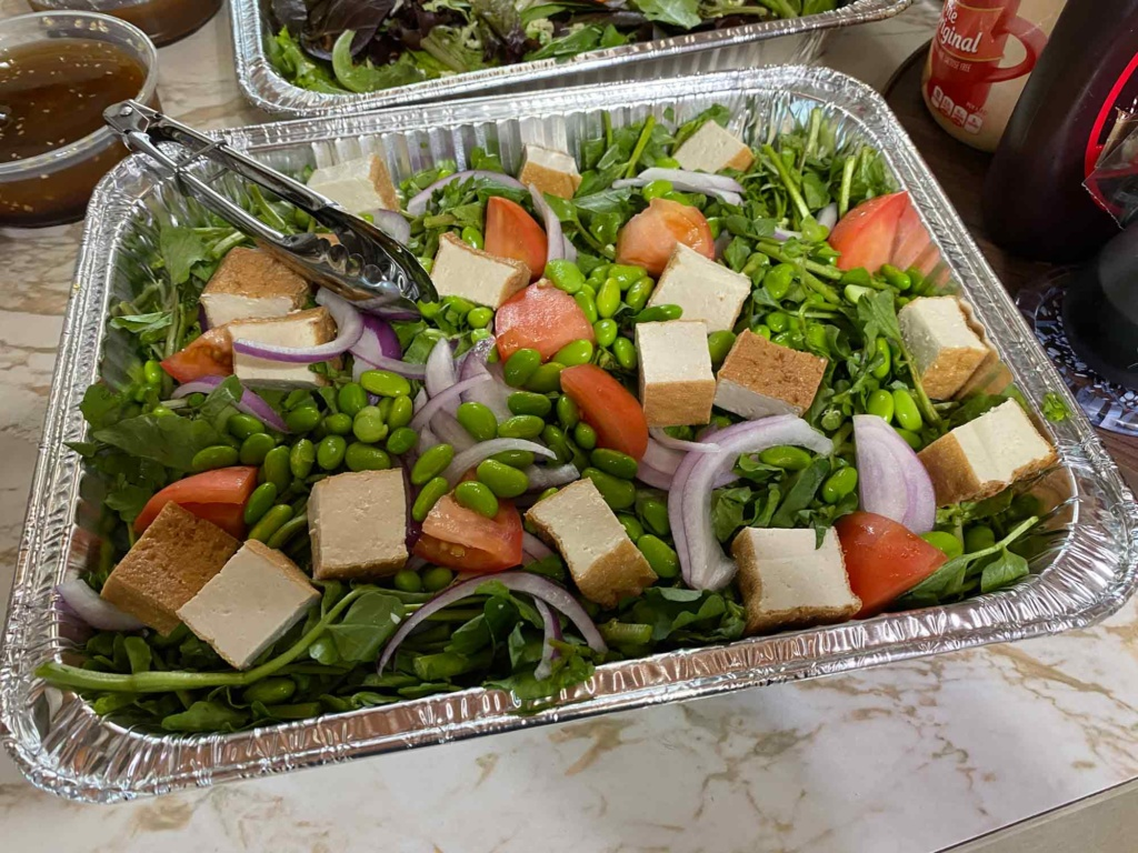 3660 watercress and tofu salad - support local businesses